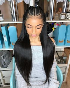 """1,498 Likes, 25 Comments - DOLL HOUSE LONDON SALON (@dollhouselondon_) on Instagram: """"New style alert 'Vixen sew-in with braids' with braids on the beautiful @yasmindiazx 