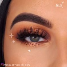 Make your eyes look wider with these superb spotlight ideas!❤️ By: care care clinic care diy care ideas care workout Makeup Eye Looks, Eye Makeup Steps, Eye Makeup Art, Crazy Makeup, Smokey Eye Makeup, Eyebrow Makeup, Pretty Makeup, Eyeshadow Makeup, Peach Makeup Look