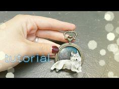 Wolf Pendant polymer clay tutorial