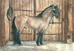 Андрианова Лариса. В русских традициях #art #watercolorpencil #drawing #horse
