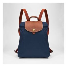 Longchamp backpack! It look small but this backpack can fit a lot for a size