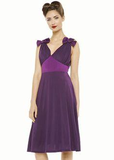 Lindy Bop Ellen Bow Jurk Paars dress purple