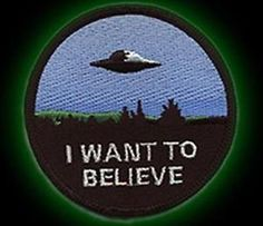 X-Files-I-Want-To-Believe-embroidered-cloth-PATCH