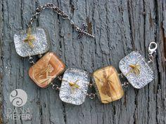 Pressed Fairies and Flowers Bracelet #danameyerdesigns #resin #foundobjects