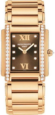 60784d27356a Patek Philippe 4910 11R-010 18K Rose Gold with Diamond 25mm Womens Watch