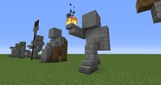 03 - Minecraft small statues for worlds easy to build