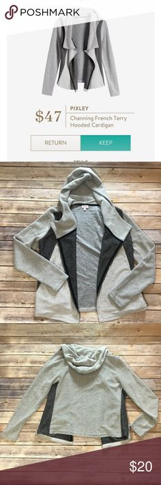 Pixley Channing French terry hoodie. Hooded cardigan perfect for lounging around. Pixley Sweaters Cardigans