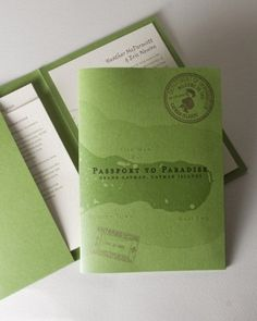 "See the ""Passport Invitations"" in our  gallery"