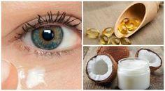 Crème naturelle à l'huile de noix de coco pour rajeunir le contour des yeux