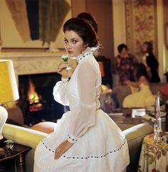 Dress,  glass, character - nice.   Jane Seymour by Patrick Lichfield Lady Jane Seymour, Bond, Joanna Lumley, The Frankenstein, Jacqueline Bisset, Anjelica Huston, Somewhere In Time, Maggie Smith, Jane Birkin