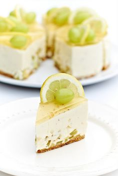 White wine cheesecake - no bake. Will have to convert the recipe from grams.