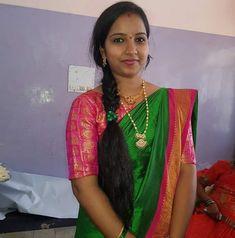 Indian Natural Beauty, Indian Beauty Saree, Beautiful Women Over 40, Beautiful Girl Indian, Bridesmaid Saree, Cute Beauty, Beauty Girls, Half Saree Designs, Beautiful Braids