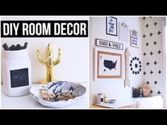 DIY TUMBLR ROOM DECOR! 2015 - YouTube