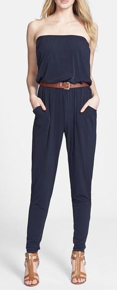 Nordstrom  MICHAEL Michael Kors Belted Strapless Jersey Jumpsuit - looks just like CAbi's Patio Romper!!