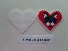 Heart cat hama perler beads