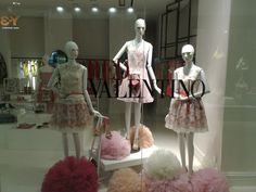 R E D Valentino windows Jakarta-- I like the one in the middle!!