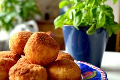 Vegan Arancini: Italian Rice Balls  - A Vegan Blogging Extravaganza at The Flaming Vegan