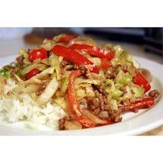 Black Pepper Beef and Cabbage Stir Fry - Allrecipes.com