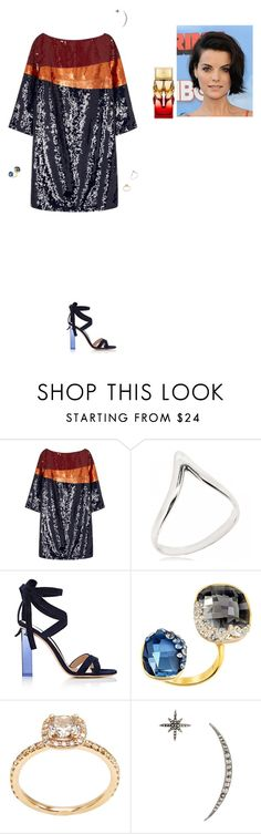 """""""Untitled #2195"""" by gracewirth101 ❤ liked on Polyvore featuring Tory Burch, Gianvito Rossi, Swarovski, Federica Tosi and Christian Louboutin"""