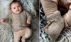 Små sko i silke og alpaka – der er intet, der er for godt til de nye små. Baby Knitting Patterns, Crochet Pattern, Baby Barn, Leg Warmers, Little Ones, Giraffe, Romper, Twins, Nye