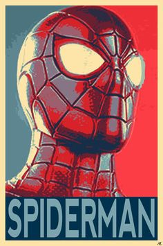 Spiderman Political Illustration - Homecoming Avengers Marvel Film Pop Art Superhero Movie Comicbook Home Decor in Poster Print or Canvas Spiderman Poster, Avengers Poster, Avengers Art, Spiderman Art, Marvel Art, Marvel Comics, Poster Marvel, Marvel Films, Marvel Characters
