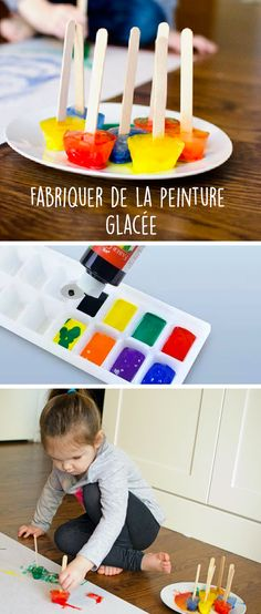 Portray with ice cubes: a frosty inventive exercise! Play School Activities, Infant Activities, Diy For Kids, Crafts For Kids, Diy Crafts, Ice Painting, Bunny Crafts, Cooking With Kids, Business For Kids