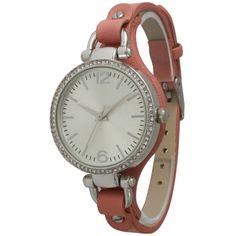 Olivia Pratt Women's Skinny Band Rhinestone Watch - Overstock Shopping - Big Discounts on More Brands Women's Watches