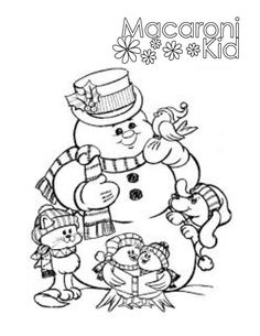 Snowman Coloring page | www.middletown.macaronikid.com