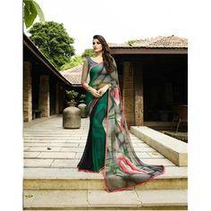 Buy Saiveera Fashion Green Georgette Saree by Saiveera Fashion, on Paytm, Price: Rs.1698?utm_medium=pintrest Saiveera Fashion Is a Best Manufacturer,#Manufacturer #Embroidery  #Wholesaler  #Retailar  #Embroidery #Salwar Suit #Cotton,Fancy, Kurtis #Printed Saree #ChanderiCotton,Cotton Dress Material