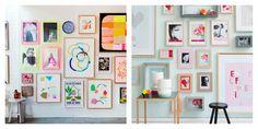Inspiración Deco: Un rincón de casa lleno de ilustraciones bonitas en blog.cosasmolonas.com