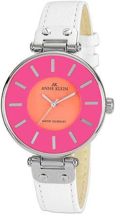 Ak Anne Klein Colorblock Watch.