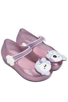 Mini Melissa Kids Baby Girl Shoes Campana Zig Zag V Mary Jane Summer Flats NEW