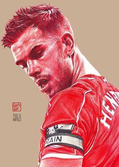 Jordan Henderson : Liverpool Captain season 2016-2017 #Liverpool #TheKopArtsStudio.