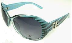 DG Eyewear Blue 55 Sunglasses + Free Micro Fiber Bag