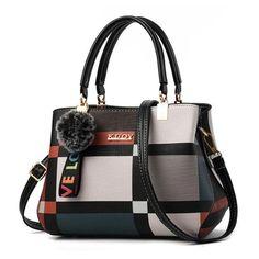 Plaid Crossbody Shoulder Handbag