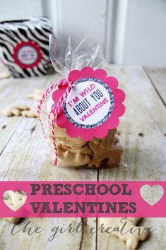 Preschool Valentines + Free Printable - The Girl Creative