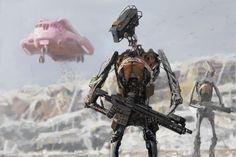 Sci-Fi Art: Landfill Security - 2D Digital, Sci-fiCoolvibe – Digital Art