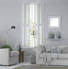 Stunning and sophisticated living window shutters