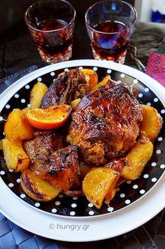 Greek Cooking, Greek Recipes, Tasty Dishes, Lamb, Good Food, Pork, Cooking Recipes, Favorite Recipes, Beef