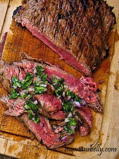 Brazilian Grilled Flank Steak with Chimichurri Sauce
