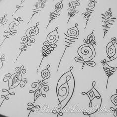 """Unalome designs available to tattoo :) for an appointment please email bethanielwilson@gmail.com:"