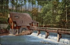 "Birmingham AL The Old Mill, Mountain Brook Estate The ""Old Mill,"" situated in Mountain Brook Estates, is used as a tea room and club house for social functions and patrons of the riding academy and tennis courts. This is one of the"