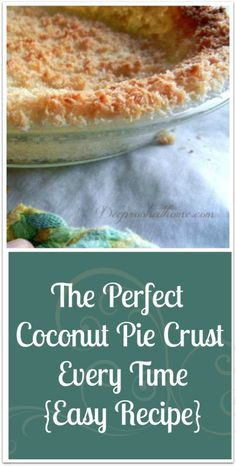 Perfect Coconut Pie Crust Every Time {Easy} Perfect Coconut Pie Crust Every Time {Easy}, It holds together under your filling! Perfect Coconut Pie Crust Every Time {Easy}, It holds together under your filling! Coconut Recipes, Gf Recipes, Low Carb Recipes, Baking Recipes, Low Carb Desserts, Gluten Free Desserts, Just Desserts, Sweet Desserts, Paleo Sweets