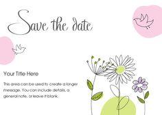 Garden Save the Date designed by Tara Green on pingg.com Diy Save The Dates, Save The Date Designs, Wedding Cards, Invitations, Messages, Garden, Cards, Wedding Ecards, Garten