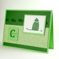 C Is For Cat On This Purrfect Handmade Any Occasion Greeting Card | cardsbylibe - Cards on ArtFire