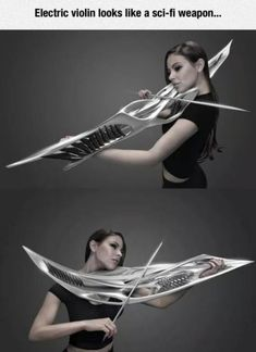 Funny pictures about Metal Violin Looks Deadly. Oh, and cool pics about Metal Violin Looks Deadly. Also, Metal Violin Looks Deadly photos. Sci Fi Weapons, Fantasy Weapons, Anime Weapons, Mundo Musical, Electric Violin, Arte Robot, Cool Inventions, Music Stuff, Orchestra