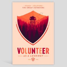"olly moss designed print for ""firewatch"", a video game he is the art director for. this link will take you to the page where you can purchase when it becomes available."