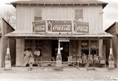 An old Cafe in Robstown, Texas, 1939