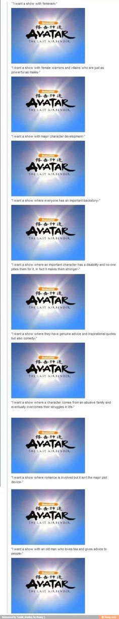 Only the avatar can provide this....and cabbage.....poor dude