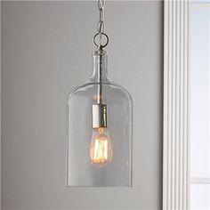 Glass Jug Pendant Light